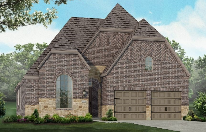 New Home Plan 550 by Highland Homes - Elevation D - Elyson Community, Katy Texas.