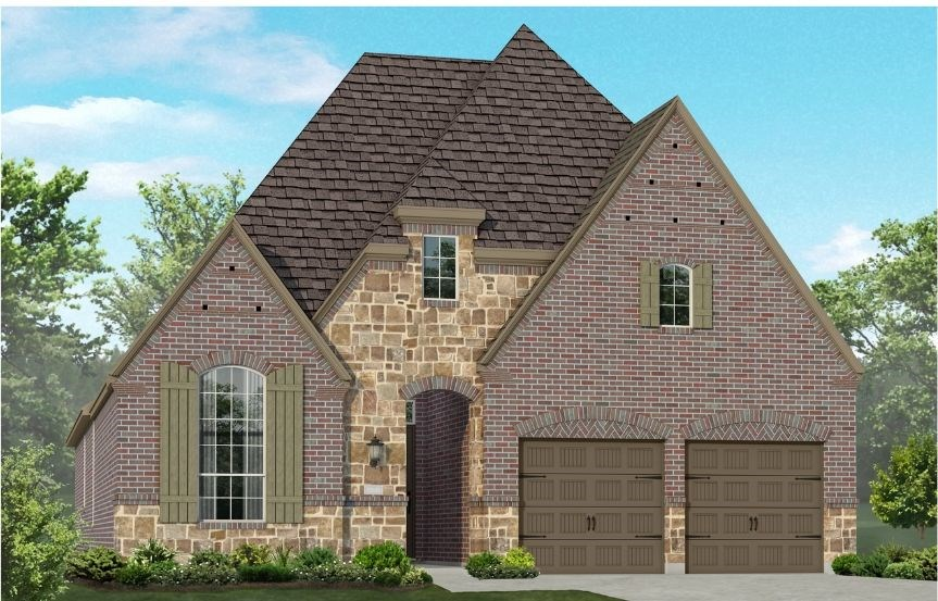 New Home Plan 550 by Highland Homes - Elevation E - Elyson Community, Katy Texas.
