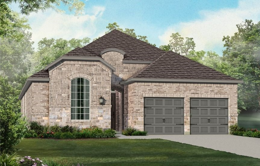 New Home Plan 550 by Highland Homes - Elevation L - Elyson Community, Katy Texas.