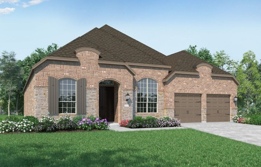 New Home Plan 216 by Highland Homes - Elevation L - Elyson Community, Katy Texas.