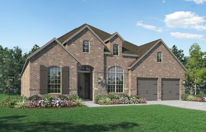 New Home Plan 216 by Highland Homes - Elevation A - Elyson Community, Katy Texas.
