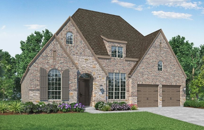 New Home Plan 216 by Highland Homes - Elevation D - Elyson Community, Katy Texas.