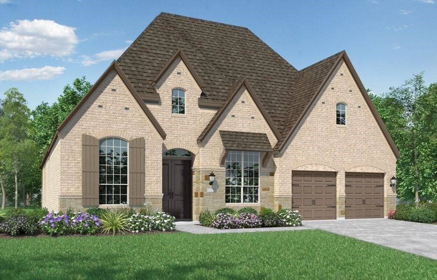 New Home Plan 216 by Highland Homes - Elevation E - Elyson Community, Katy Texas.