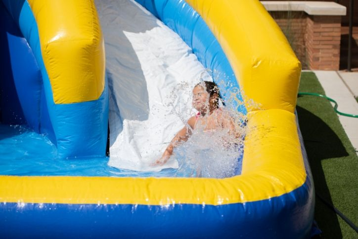Girl enjoying waterset at Back to Cool Event