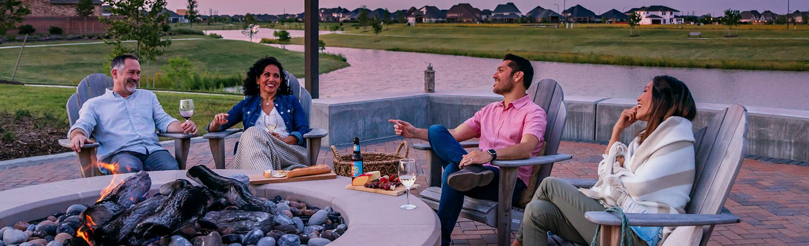 Residents enjoying amenities in Elyson master-planned community Katy, TX