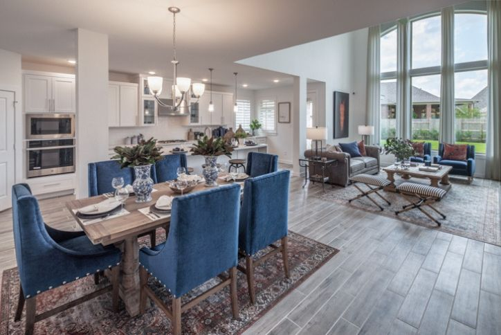 Tour 2 New Highland Model Homes In Elyson, Model Home Furniture Auction Katy