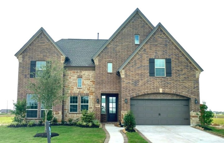 New Home Plan Carter VI by Westin Homes - Elevation B - Elyson Community, Katy Texas.