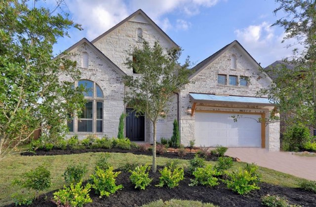 New Home Plan Sparrow by Westin Homes - Elevation A - Elyson Community, Katy Texas.