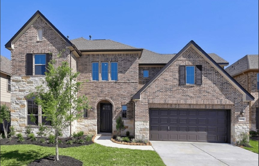 New Home Plan The Emery III by Westin Homes - Elevation A - Elyson Community, Katy Texas.