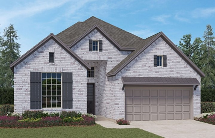 Chesmar Homes New Home Plan 3730 Hillcrest Elevation A in Elyson Katy, TX