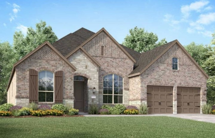 Highland Homes New Home Plan 213 Elevation A in Elyson Katy, TX