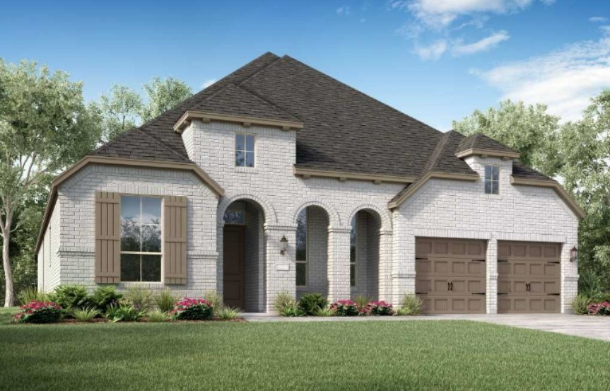 Highland Homes New Home Plan 213 Elevation B in Elyson Katy, TX