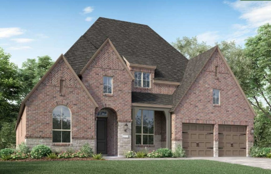 Highland Homes New Home Plan 213 Elevation D in Elyson Katy, TX