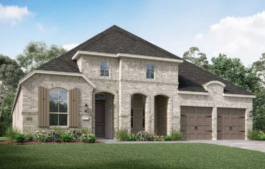 Highland Homes New Home Plan 213 Elevation L in Elyson Katy, TX
