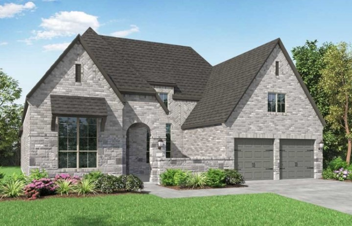 Highland Homes New Home Plan 250 Elevation D in Elyson Katy, TX