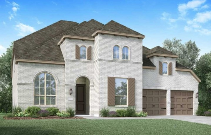 Highland Homes New Home Plan 220 Elevation B in Elyson Katy, TX
