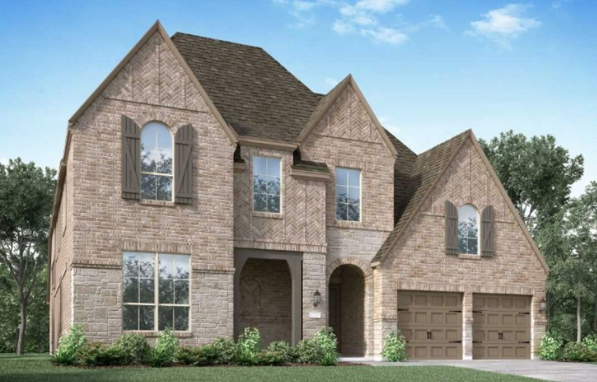 Highland Homes New Home Plan 224 Elevation D in Elyson Katy, TX
