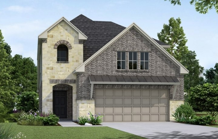New Home Plan Harbor by Westin Homes - Elevation A - Elyson Community, Katy Texas.