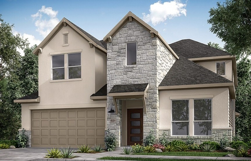New Home Plan Bordeaux by Taylor Morrison - Elyson Community, Katy Texas.